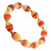 دستبند کهربا پودری جذاب زنانه