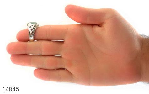 انگشتر آکوامارین رکاب دست ساز - عکس 9