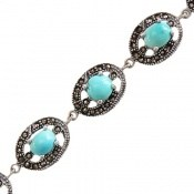 دستبند مارکازیت و فیروزه نیشابوری اشرافی و ارزشمند زنانه