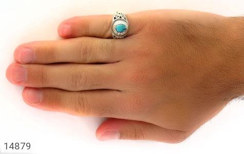 انگشتر فیروزه نیشابوری هنر دست استاد رشیدی - عکس 7