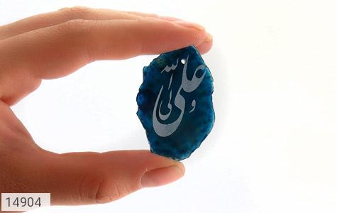 نگین تک عقیق حکاکی علی ولی الله - تصویر 6