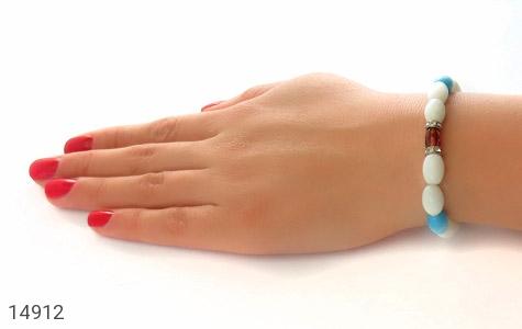 دستبند چشم گربه و کهربا خوش رنگ زنانه - تصویر 6
