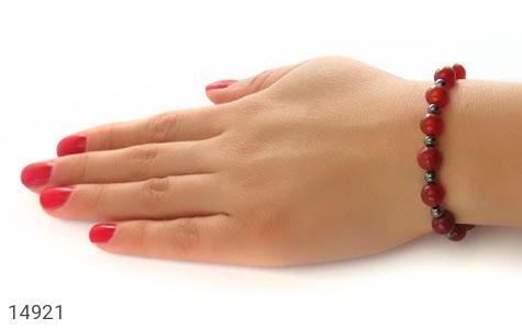 دستبند حدید و عقیق جذاب زنانه - عکس 5