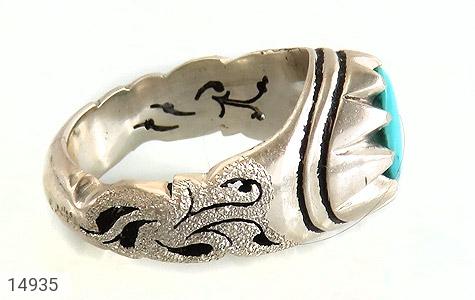 انگشتر فیروزه نیشابوری هنر دست استاد رشیدی - عکس 3