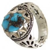 انگشتر فیروزه نیشابوری شجری خوش رنگ مردانه