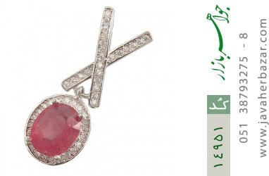 مدال یاقوت سرخ طرح نازنین زنانه - کد 14951
