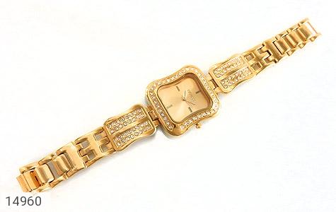 ساعت گس GUESS طلائی پرنگین مجلسی زنانه - عکس 3