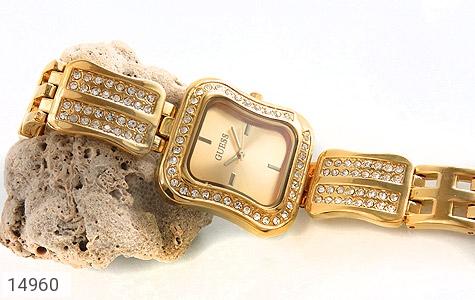 ساعت گس GUESS طلائی پرنگین مجلسی زنانه - عکس 5