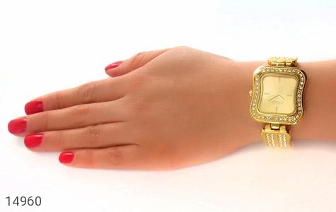 ساعت گس GUESS طلائی پرنگین مجلسی زنانه - عکس 7