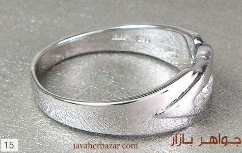 حلقه ازدواج نقره آب رودیوم - تصویر 2