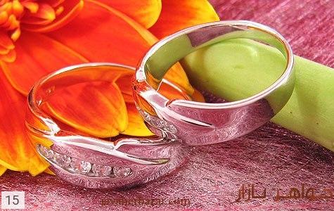 حلقه ازدواج نقره آب رودیوم - عکس 3