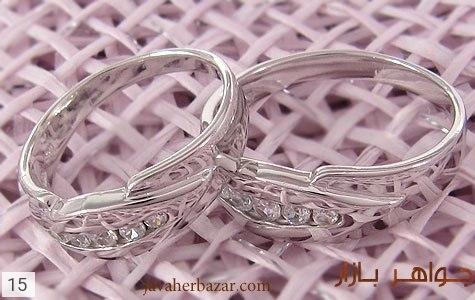 حلقه ازدواج نقره آب رودیوم - تصویر 4