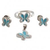 سرویس نقره طرح پروانه ی آبی زنانه