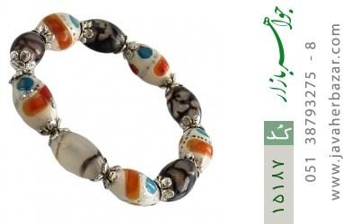 دستبند استخوان و عقیق جذاب زنانه - کد 15187