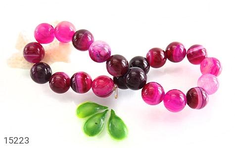دستبند عقیق خوش رنگ و جذاب زنانه - عکس 3
