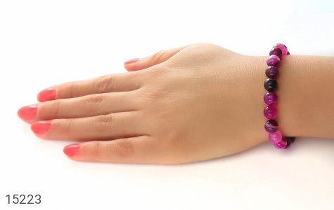 دستبند عقیق خوش رنگ و جذاب زنانه - عکس 5