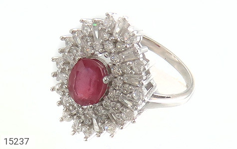 انگشتر یاقوت سرخ جواهری زنانه - عکس 1