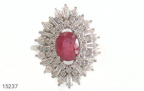 انگشتر یاقوت سرخ جواهری زنانه - تصویر 2