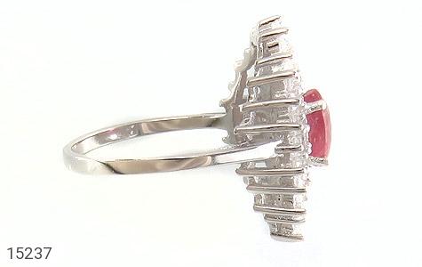 انگشتر یاقوت سرخ جواهری زنانه - عکس 3