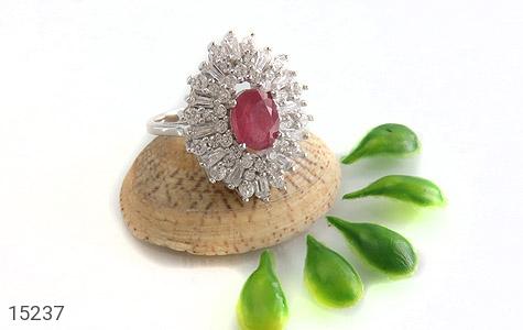 انگشتر یاقوت سرخ جواهری زنانه - عکس 5