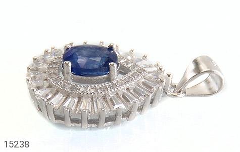 مدال یاقوت آبی جواهری زنانه - تصویر 2