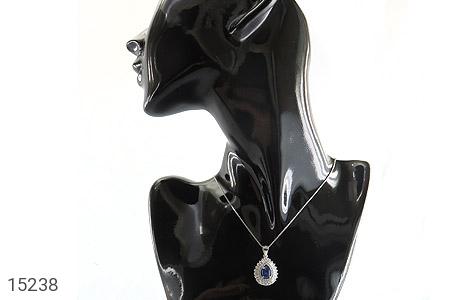 مدال یاقوت آبی جواهری زنانه - عکس 7