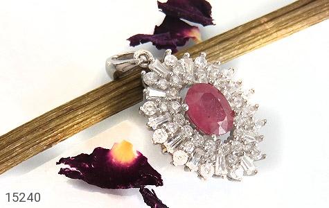 مدال یاقوت سرخ جواهری زنانه - تصویر 4