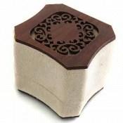 جعبه جواهر انگشتری مخملی لوکس