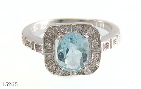 انگشتر توپاز آبی طرح ساغر زنانه - تصویر 2