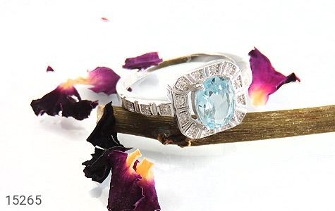 انگشتر توپاز آبی طرح ساغر زنانه - عکس 5