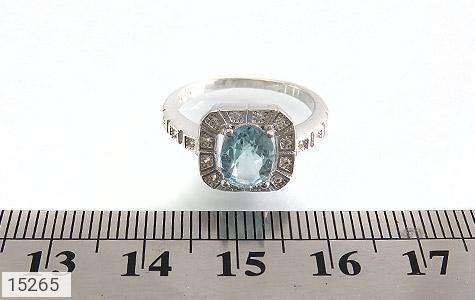 انگشتر توپاز آبی طرح ساغر زنانه - تصویر 6