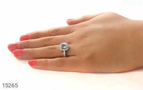 انگشتر توپاز آبی طرح ساغر زنانه - عکس 7