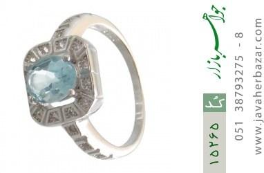 انگشتر توپاز آبی طرح ساغر زنانه - کد 15265