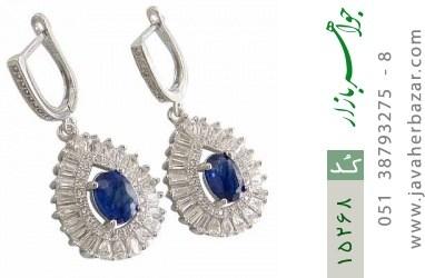 گوشواره یاقوت کبود جواهری زنانه - کد 15268