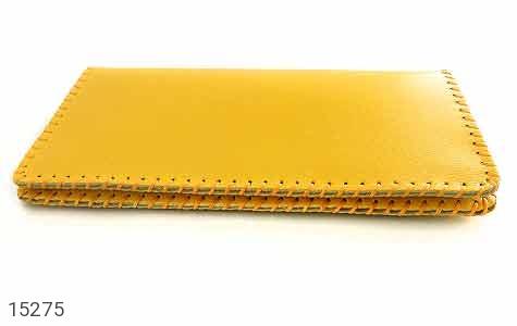کیف چرم طبیعی زرد جذاب زنانه - تصویر 2