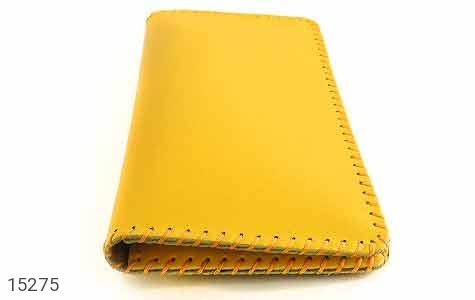 کیف چرم طبیعی زرد جذاب زنانه - عکس 3