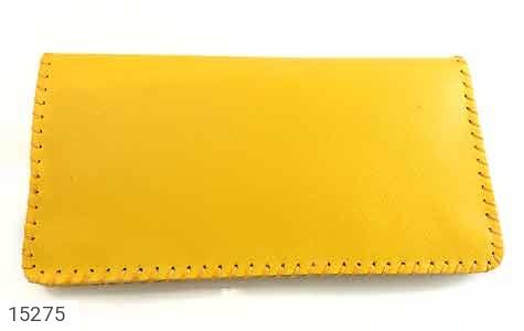 کیف چرم طبیعی زرد جذاب زنانه - تصویر 4