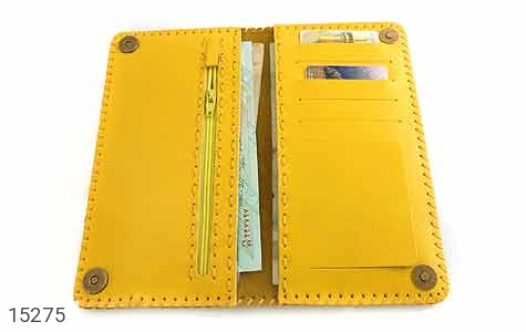 کیف چرم طبیعی زرد جذاب زنانه - عکس 5