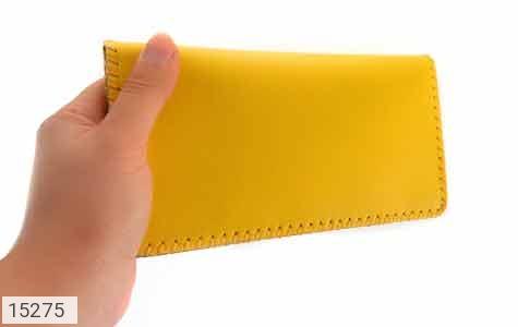 کیف چرم طبیعی زرد جذاب زنانه - تصویر 8