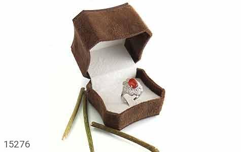 جعبه جواهر انگشتری مخملی لوکس - تصویر 4