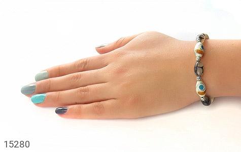 دستبند عقیق و استخوان جذاب زنانه - عکس 5