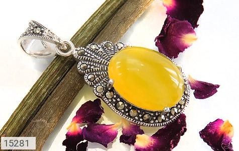 مدال مارکازیت و عقیق حکاکی شرف الشمس - تصویر 4