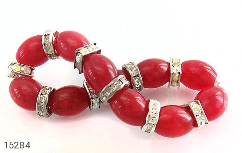 دستبند جید قرمز درشت زنانه - تصویر 2