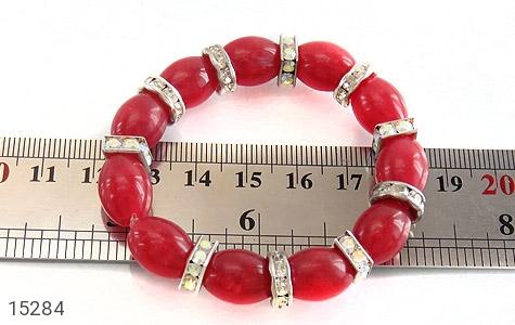 دستبند جید قرمز درشت زنانه - تصویر 4