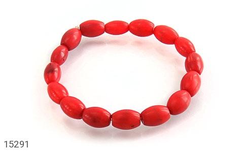 دستبند مرجان خوش رنگ زنانه - عکس 1