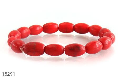 دستبند مرجان خوش رنگ زنانه - تصویر 2