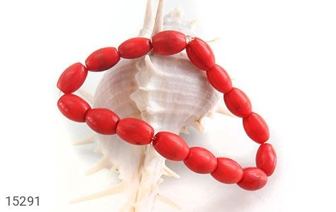 دستبند مرجان خوش رنگ زنانه - عکس 3