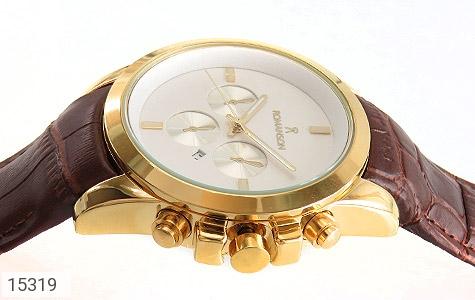 ساعت بند چرمی رمانسون ست Romanson دورطلائی صفحه سفید - تصویر 2