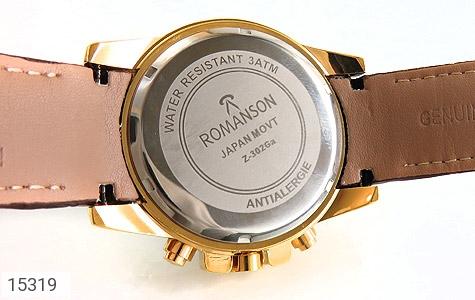 ساعت بند چرمی رمانسون ست Romanson دورطلائی صفحه سفید - عکس 3
