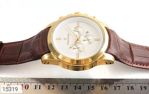 ساعت بند چرمی رمانسون ست Romanson دورطلائی صفحه سفید - عکس 5